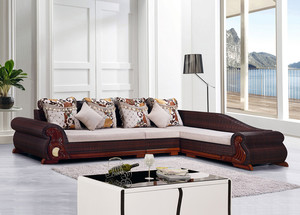 Rattan sofa combination living room small apartment corner sofa rattan chair residential furniture fabric sofa