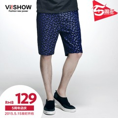 Viishow2015 summer dress new printing five shorts men's thin and comfortable casual Shorts-Pants trend Capris