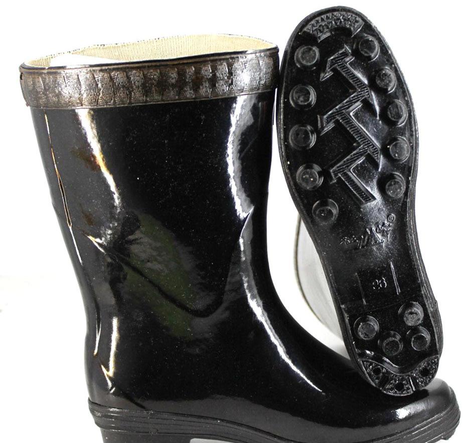 正品征峰高筒有里布橡胶雨鞋男士钓鱼雨靴高筒工矿劳保水鞋防滑