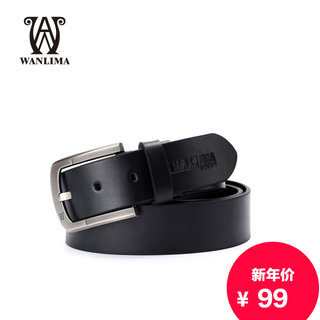 Wan Lima man pin buckle leather belt genuine leather belts business casual men's luxury leather belt men's belt