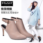 St&Sat/Saturday fall 2015 new leather pointy ultra high heel women shoes Sandals SS53116711