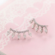 Good day for Korean fashion Korean temperament exaggerated lashes star Korea Jewelry Diamond earring Stud female