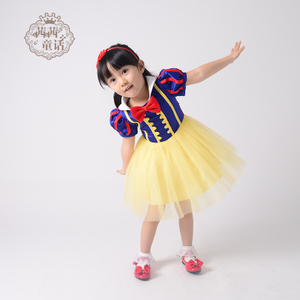 Snow White skirt girls cosplay costume Halloween Christmas Children costumes performance clothing children's clothing