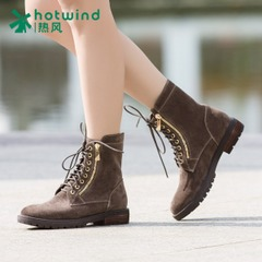 Hot Martin tide girls boots ankle boots suede Western wind with strap-in-tube women boots 75H5925