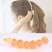 Know Richie jewelry made by the Korean version of a daisy flower banana clip card caught clip hair clip ponytail holder head catch
