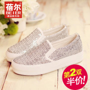 What autumn 2015 new sneakers women's shoes platform Lok Fu shoes foot pedal low casual shoes