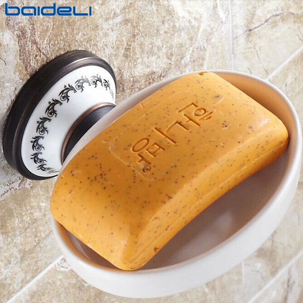 佰德利 黑古铜仿古瓷肥皂碟 欧式肥皂篮 卫生间肥皂架 浴室挂件