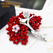 Mu-Mu-rhinestones brooch jewelry new year gift Joker Korea fashion brooch clasp pins happy bird