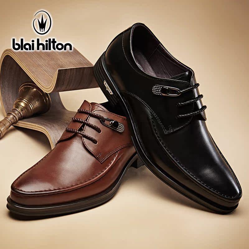 男鞋春季男士休闲皮鞋真皮擦色皮鞋时尚英伦鞋子男潮