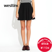 Westlink/West fall 2015 new solid color stretch knit dresses skirts spiky umbrella skirt skirt