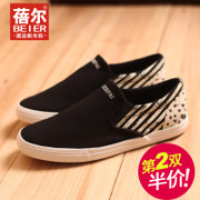 Becky fall 2015 the new pedal canvas lazy Korean tidal shoes leisure shoes low men shoes-mail