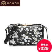 Honggu red Valley vintage European fashion handbags new 2016 floral print handbags Crossbody 8044