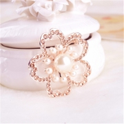 Good Korean flower Rose Diamond brooch, fashion big flower corsages Korea jewelry ladies corsage