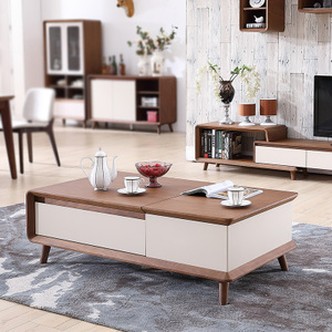 佛伦凯特 现代简约客厅茶几 烤漆升降茶几电视柜组合套装成套家具