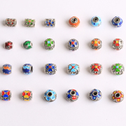 DIY jewelry materials Tibetan silver new drops of oil every Pearl clover separated beads vintage beads matching beads
