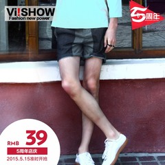 Viishow-summer new fashion solid color shorts men-straight men's pants men and 5 minutes of pants
