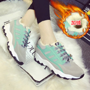 2015 Korean version plus new winter leisure cotton Gump thick-soled running shoes sneakers women's shoes shoes girls shoes