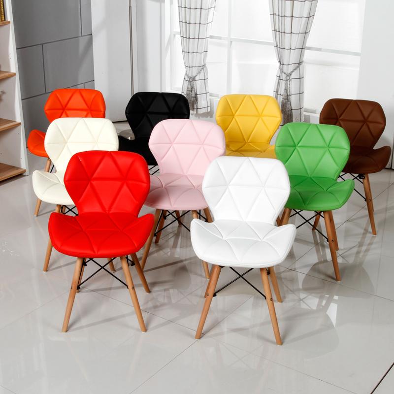 宜家餐椅伊姆斯洽谈椅子皮革椅子办公椅电脑椅家用椅设计师靠背椅