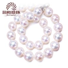润和珠宝 星舞 9-10mm正圆强光 天淡水珍珠项链正品女 然送妈妈