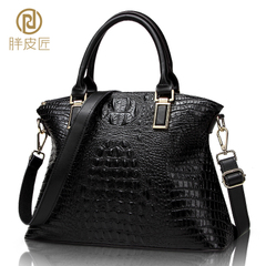 2015 winter fat Tanner new purses leather crocodile pattern leather women bag handbag Europe and diagonal bag-mail