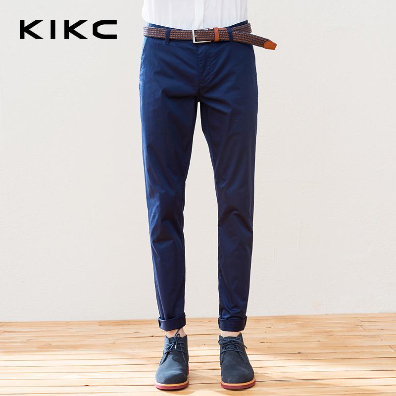 kikc2016男士休闲裤纯色小脚裤哈伦裤春夏长裤纯棉男裤潮男-1