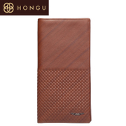 Honggu Hong Gu 2015 first layer leather vintage plaid pattern wallet 7001