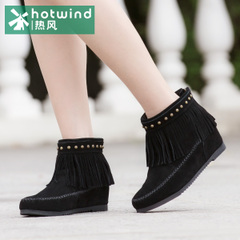 Women's tassel short boots women at the end of the spring and autumn tides of hot air rivet high boot women winter boots 75H5903