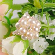Natural Pearl rings ring bridal gift Japan imported beads handmade DIY beaded jewelry kits