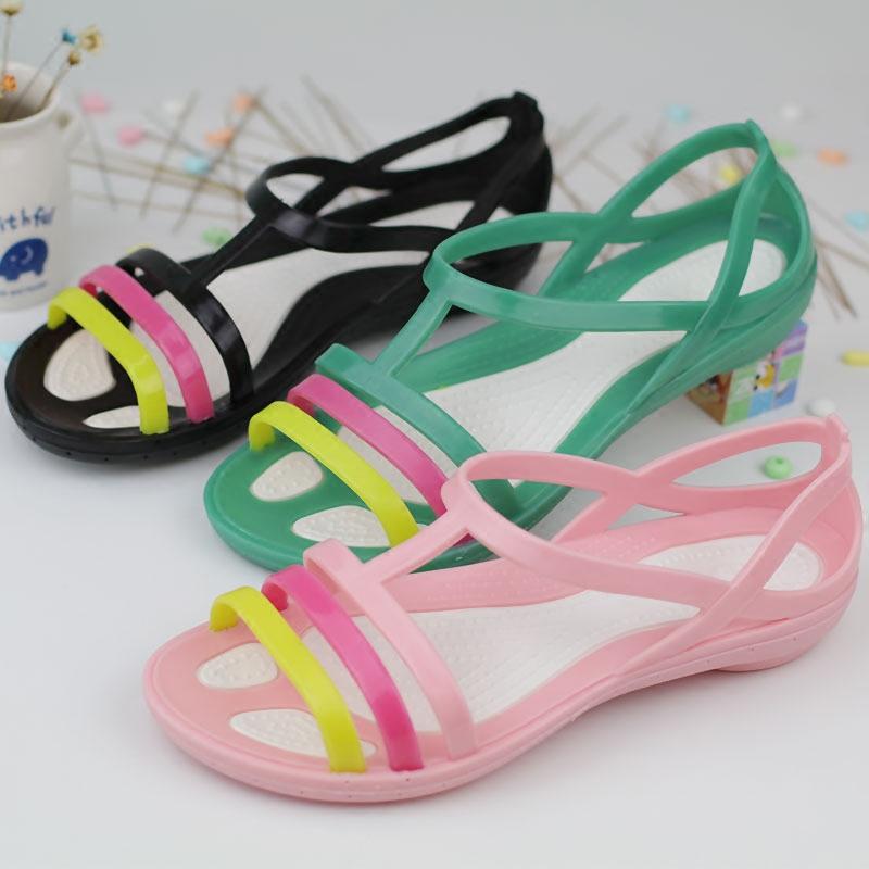 夏季新款女大童塑料凉鞋防滑大人凉鞋休闲鞋学生鞋沙滩鞋罗马凉鞋
