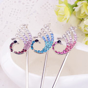 Good jewelry ladies hair ACC u-clip hair flower-studded hairpins