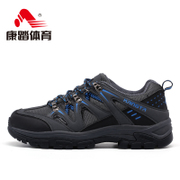 Fall/winter recreation riding authentic couple outdoor shoes non-slip wear-tie walking shoes low damping hiking shoes