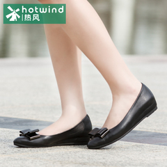 Increased hot air 2015 bow sweet pointed shoes toe Sheepskin women flat-bottom tide 61H5813