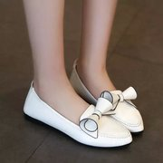 C spring/summer/autumn light pointed British fashion leisure shoes flat heel bow set foot flat bottom shoes