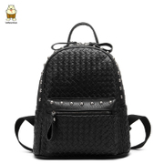 North double shoulder bag women bags new backpacks fashion rivet 2015 tide Korean bags student woven bag