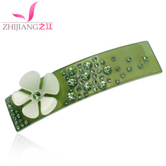 Ms Jiang floral hair clip bangs big Korea clips hair accessories pony tail clip spring clip hairpin cross clip headgear