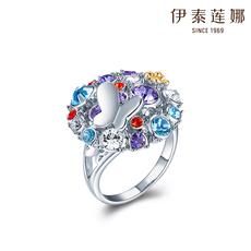 伊泰莲娜 饰品 花之城戒指 女 时尚指环 采用施华洛世奇元素