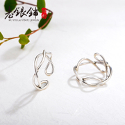 Wu Yue Lao Pu S990 silver ring, silver women''s designer original art pure silver ring of thin open ring