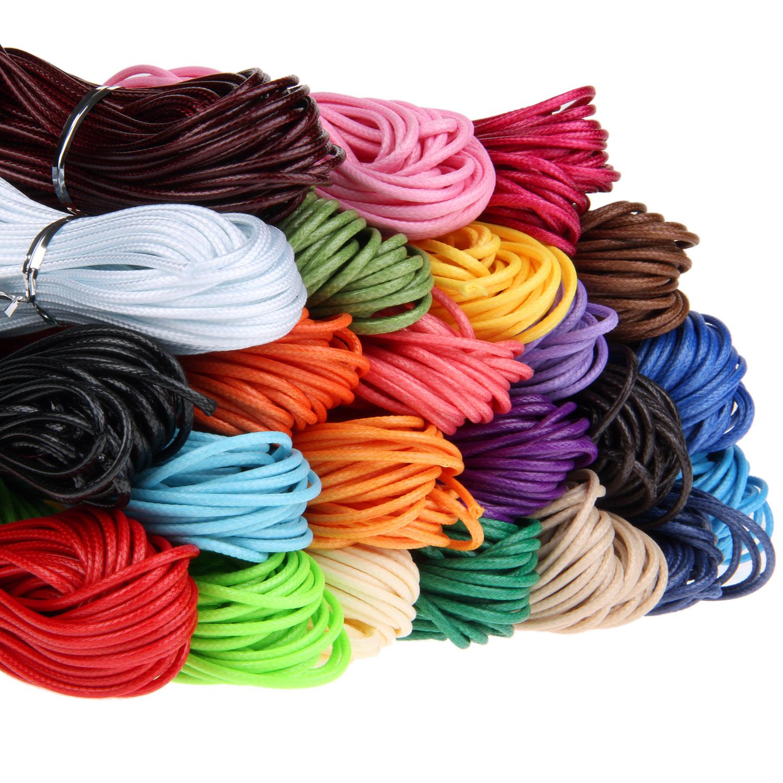 雅叶蜡线手工编织DIY黑手链红绳子项链玉佩挂绳材料2mm韩国蜡绳线