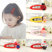 Know NI the Korean version of painted resin children hair clip bangs cute girl card issuer BB clip hair accessory jewelry