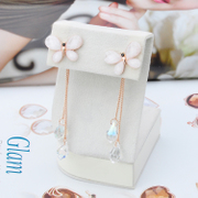 Ya na Korea wild female butterfly earrings tassel drop earrings temperament long crystal earrings ear studs