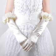 Korean style lace Bridal Gloves Bridal Gloves spring summer sun short wedding package leaking glove