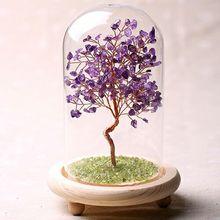 天然水晶发财cu3客厅玄关an艺品许愿树精致摆件生日个性礼物