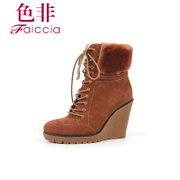 Non genuine cowhide hair-tie new counters short boots high heel boots with WGD567709C