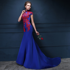 Toast clothing 2015 bride fashion evening dress long tail slim one-shoulder wedding dresses wedding dress spring/summer-