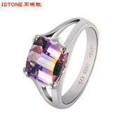 Crystal stones Ametrine ring rings Valentine''s day gifts