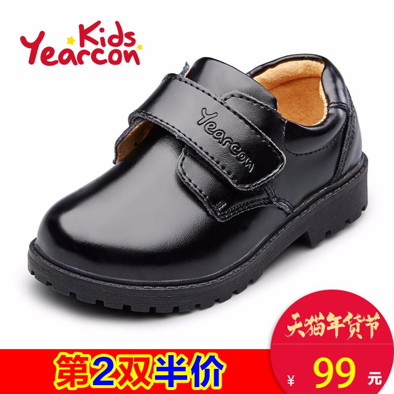意尔康童鞋2017新款小皮鞋演出鞋男童中小童英伦风圆头学生鞋产品展示图3