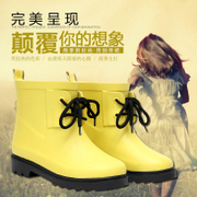 RAINBELT rain-belt children Korean version of pure color boots fashion boots rain boots waterproof shoes in stock