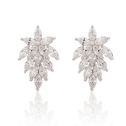 Good new Korean version of Europe and exaggerated Korea fashion temperament flashing diamond snowflake Stud zirconium gyrophora accessories women earrings