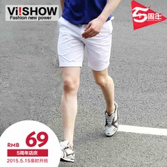Viishow summer men's shorts men's slim fit shorts flashes in men's fashion casual shorts