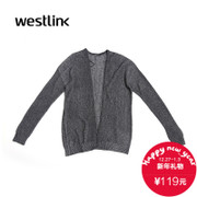Westlink/West New 2015 winter Cardigan slim women simple solid drop shoulder sweater coat